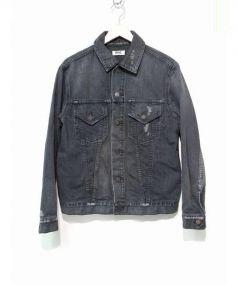 RHC Ron Herman(ロンハーマン)の古着「ダメージ加工デニムジャケット」|ブラック