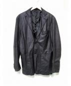 DESIGNWORKS(デザインワークス)の古着「レザーテーラードジャケット」|ブラック