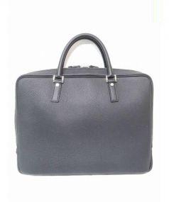 大峽製鞄(オオバセイホウ)の古着「シュリンクレザーブリーフケース」 ブラック