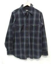 BLACK SIGN(ブラックサイン)の古着「ワークシャツ」 グレー×ブラック