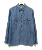 BLACK SIGN(ブラックサイン)の古着「ボタンダウンワークシャツ」|ブルー