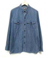 BLACK SIGN(ブラックサイン)の古着「ボタンダウンワークシャツ」 ブルー
