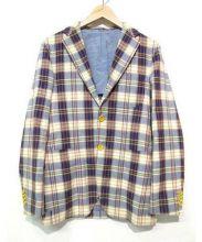 GianFranco Bommezzadri(ジャンフランコ ボメザドリ)の古着「チェックテーラードジャケット」|ベージュ×ブルー