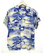 BUTCHER PRODUCTS(ブッチャープロダクツ)の古着「アロハシャツ」 アイボリー×ブルー