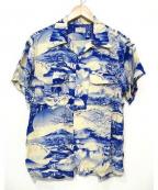 BUTCHER PRODUCTS(ブッチャープロダクツ)の古着「アロハシャツ」|アイボリー×ブルー