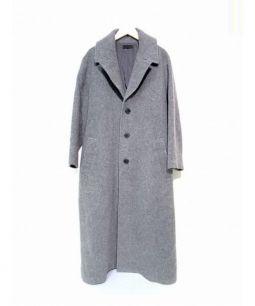 G.V.G.V.(ジーブイジーブイ)の古着「マキシチェスターコート」|ブラック