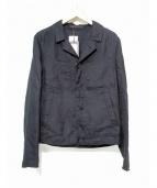 CARUSO(カルーゾ)の古着「リネンコットンダブルフェイスブルゾン ジャケット」 ブラック