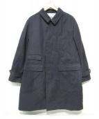 BKT by BROOKLYN TAILORS(ビーケーティーバイブルックリンテイラーズ)の古着「ステンカラーコート」|ブラック