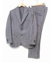 RING JACKET(リングジャケット)の古着「セットアップスーツ」 ブラック×ホワイト
