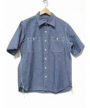 IRON HEART(アイアンハート)の古着「ヘビーセルビッチシャツ」|ブルー