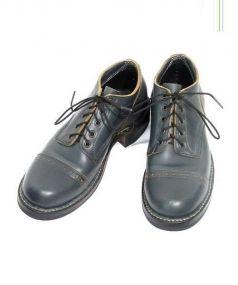 WHITE'S BOOTS(ホワイツブーツ)の古着「ドテストゥキャップオックスフォードシューズ」 ネイビー
