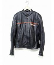 HARLEY-DAVIDSON(ハーレーダビットソン)の古着「ライナー付シングルライダースジャケット」 ブラック