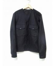 LEMAIRE(ルメール)の古着「ウールノーカラーシャツ」|ブラック