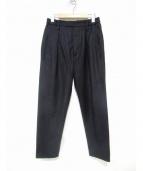 LEMAIRE(ルメール)の古着「インタックテーパードウールパンツ」|ブラック