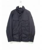PEUTEREY(ピューテリー)の古着「STRIPES WL M65ジャケット」 ブラック