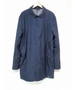 NEMEN(ネーメン)の古着「ナイロンステンカラーコート」 ネイビー