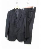 BARNEYS NEWYORK(バーニーズニューヨーク)の古着「ナロー2ブラックスーツ」|ブラック