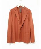 eleventy(イレブンティ)の古着「ウールジャージーアンコンジャケット」|オレンジ