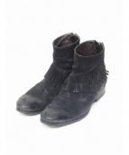 BUTTERO(ブッテロ)の古着「フリンジブーツ」|ブラック