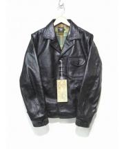 FREEWHEELERS(フリーホイーラーズ)の古着「フォーコナーズレザージャケット」|ブラック