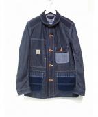 CDG JUNYA WATANABE MAN(コムデギャルソン ジュンヤワタナベ)の古着「コラボデニムカバーオール」|ブルー