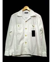 BLACK SIGN(ブラックサイン)の古着「シアサッカーオープンカラーシャツ」 ホワイト
