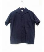 BLACK SIGN(ブラックサイン)の古着「クロコジャガード30sイタリアンカラーシャツ」|ブラック