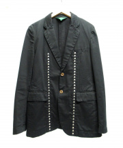 COMME des GARCONS HOMME PLUS(コムデギャルソンオムプリュス)の古着「スタッズデザイン2Bジャケット」|ブラック