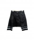 BLACK COMME des GARCONS(ブラックコムデギャルソン)の古着「サルエルハーフパンツ」|ブラック