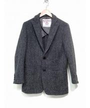 ROSSO(ロッソ)の古着「ハリスツイードテーラードジャケット」 グレー