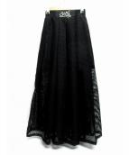 PAMEO POSE(パメオ ポーズ)の古着「サイドネットスカート」