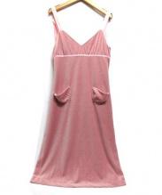 Irojikake(イロジカケ)の古着「ベロアキャミワンピース」|ピンク