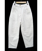 hillier bartley(ヒリヤーバートリー)の古着「ハイライズホワイトデニム」|ホワイト
