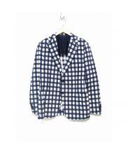 TAGLIATORE(タリアトーレ)の古着「チェックジャケット」|ネイビー×ホワイト