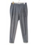 ENFOLD(エンフォルド)の古着「ハイツイストタックパンツ」|グレー