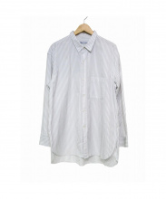 cristaseya(クリスタセヤ)の古着「ストライプシャツ」|グレー×ホワイト