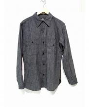 BLACK SIGN(ブラックサイン)の古着「シャンブレーパイオニアシャツ」 グレー