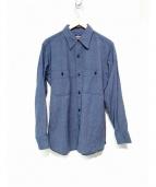 BLACK SIGN(ブラックサイン)の古着「1930sモチーフシャンブレーシャツ」|ブルー