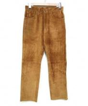 UNUSED(アンユーズド)の古着「スウェードパンツ」|ブラウン