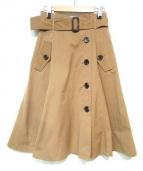 JUSGLITTY(ジャスグリッティー)の古着「トレンチスカート」|ベージュ