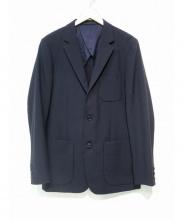 UNIVERSAL PRODUCTS.(ユニバーサル プロダクツ)の古着「トロピカルウールテーラードジャケット」 ネイビー
