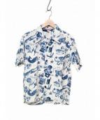 SUN SURF(サンサーフ)の古着「アロハシャツ」|ホワイト×ブルー
