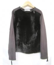 MaxMara(マックスマラ)の古着「ジャージーレザープルオーバー」|ブラウン