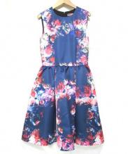 MSGM(エムエスジーエム)の古着「フラワープリントワンピース」|ブルー
