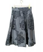 Max Mara(マックスマーラ)の古着「シャドーフラワースカート」|グレー
