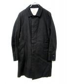 VALLIS by FACTOTUM(ヴァリスバイファクトタム)の古着「綿麻ストレッチ ステンカラーコート」 ブラック