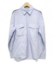 VALENTINO(ヴァレンティノ)の古着「デザインストライプシャツ」|ブルー