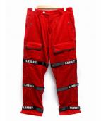 LABRAT(ラブラット)の古着「Bontage Rap pants」|レッド