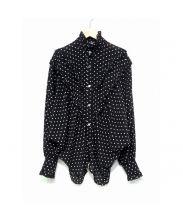 Alexa Chung(アレクサチャン)の古着「ドットブラウス」|ブラック