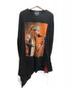 FAGASSENT TOSHIKI AOKI(ファガッセン トシキアオキ)の古着「ロングスリーブプリントTシャツ」|ブラック